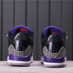 "Air Jordan 3 ""Court Purple"" CT8532-050 Black Purpole"