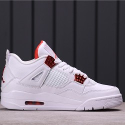 "Air Jordan 4 ""Purple Metallic"" 308497-100 White Orange"