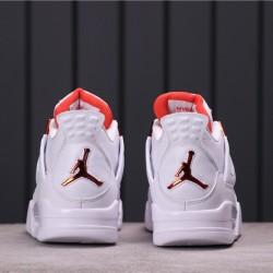 """Air Jordan 4 """"Purple Metallic"""" 308497-100 White Orange"""