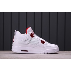 "Air Jordan 4 ""Purple Metallic"" CT8527-112 White Red"