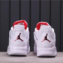 """Air Jordan 4 """"Purple Metallic"""" CT8527-112 White Red"""