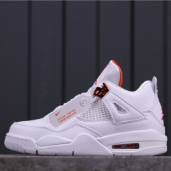 "Air Jordan 4 ""Purple Metallic"" CT8527-114 White Orange"