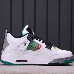 "Air Jordan 4 ""Rasta"" AQ9129-100 White Green"