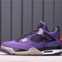 "Travis Scott x Air Jordan 4 ""Purple"" 308497-510 Purple Black"