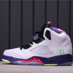 "Air Jordan 5 ""Alternate Bel-Air"" DB3335-100 White Purple Black"