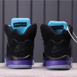 "Air Jordan 5 ""Alternate Grape"" 136027-500 Purple Black Blue"