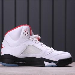 "Air Jordan 5 ""Fire Red"" DA1911-102 White Red Black"