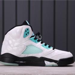 "Air Jordan 5 ""Island Green"" CN2932-100 White Blue Black"