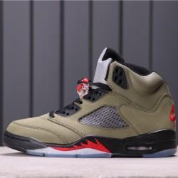 "Air Jordan 5 ""Oregon Ducks"" CT8480-210 Army Green Black"