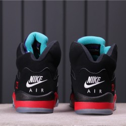 "Air Jordan 5 ""Top 3"" CZ1786-001 Black Red Purple Blue"