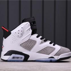 """Air Jordan 6 """"Flint"""" CI3125-100 White Grey"""