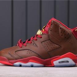 """Air Jordan 6 """"Hare"""" CT4954-110 Brown Red"""