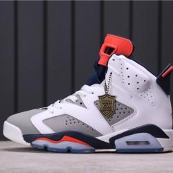 "Air Jordan 6 ""Tinker"" 384664-104 White Grey"