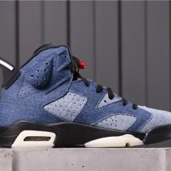 "Air Jordan 6 ""Washed Denim"" CT5350-401 Blue Black"