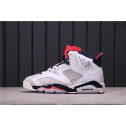 "Travis Scott x Air Jordan 6 ""Tinker"" 384664-104 White Black Red"