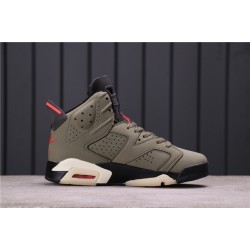 "Travis Scott x Air Jordan 6 ""Medium Olive"" CN1084-200 Army Green Black"