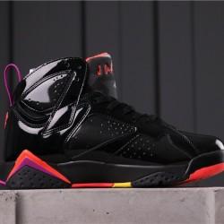"""Air Jordan 7 """"Black Patent Leather"""" 313358-006 Black Red"""