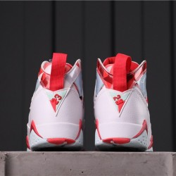 """Air Jordan 7 """"Topaz Mist"""" 442960-104 White Red"""