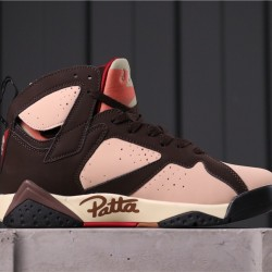 Patta x Air Jordan 7 AT3375-200 Dark Brown Pink