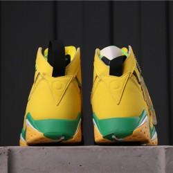 "Patta x Air Jordan 7 OG SP ""Oregon Ducks"" AT3375-300 Yellow Green"