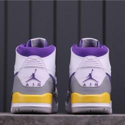 "Air Jordan Legacy 312 ""Lakers"" AV3922-157 White Grey Yellow"