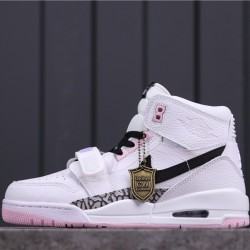 "Air Jordan Legacy 312 NRG ""Black Pink"" AT4040-106 White Black"