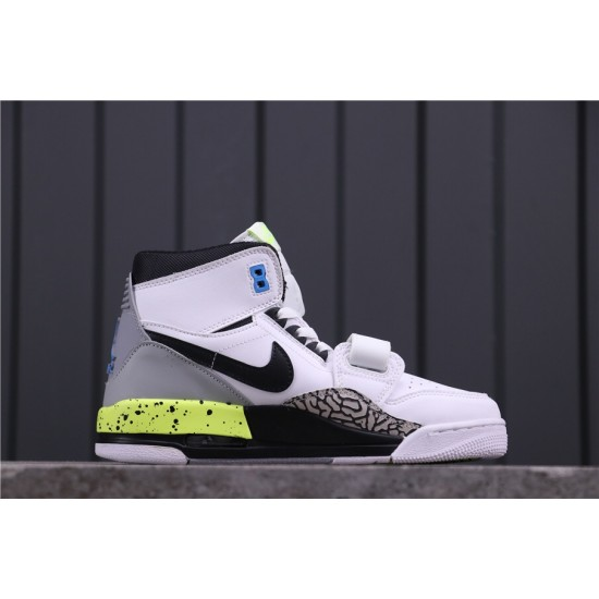 "Air Jordan Legacy 312 ""Storm Blue"" AQ4160-107 White Black Green"