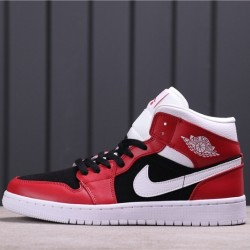 Air Jordan 1 Mid BQ6472-601 Red Black White