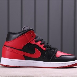 "Air Jordan 1 Mid Retro ""Sonics"" 554724-074 Red Black"