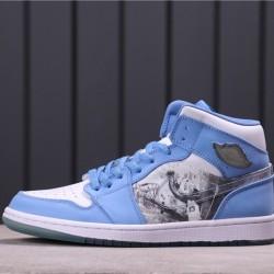 Air Jordan 1 Mid SE 316269-142 Blue White