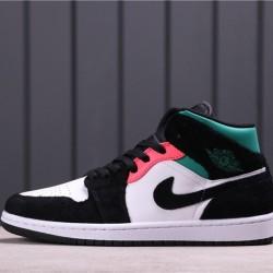 "Air Jordan 1 Mid SE ""Game Royal"" 852542-116 Black White green"