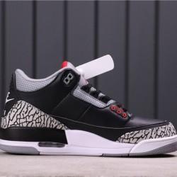 """Air Jordan 3 """"Black Cement"""" 854262-001 Black Grey"""