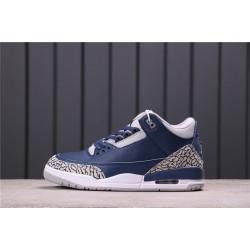 """Air Jordan 3 """"Midnight Navy"""" CT8532-401 Blue Grey"""