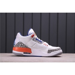 "Air Jordan 3 ""Red Cement"" 136064-148 White Orange Grey"