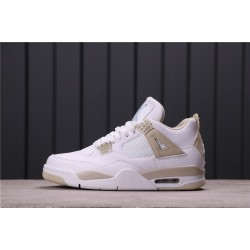 "Air Jordan 4 ""Linen"" 487724-118 White Gold"