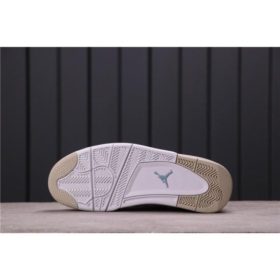 "Air Jordan 4 ""Linen"" 487724-118 White Gold"