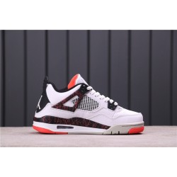 "Air Jordan 4 ""Pale Citron"" 308497-116 White Black Red"