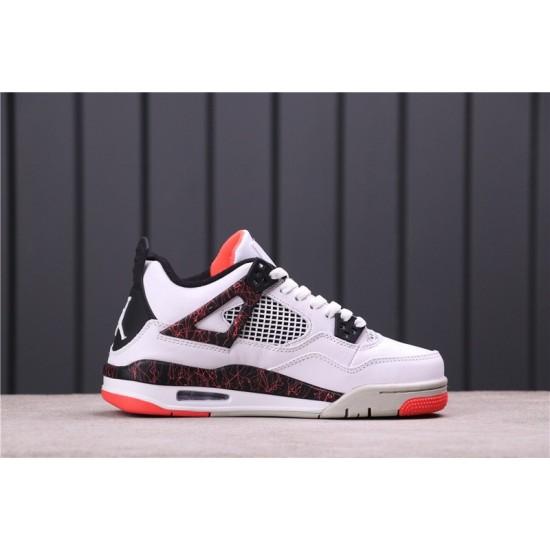 "Air Jordan 4 ""Pale Citron"" 308497-116 White Black Red"