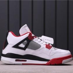 Air Jordan 4 Retro 308497-110 White Red Black