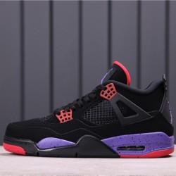 "Air Jordan 4 ""Raptors"" AQ3816-056 Black Purple Red"