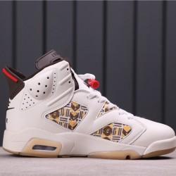 "Air Jordan 6 ""Quai 54"" CZ4152-100 Khaki Brown"