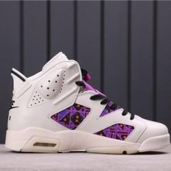 """Air Jordan 6 """"Quai 54"""" CZ4152-101 White Purple"""
